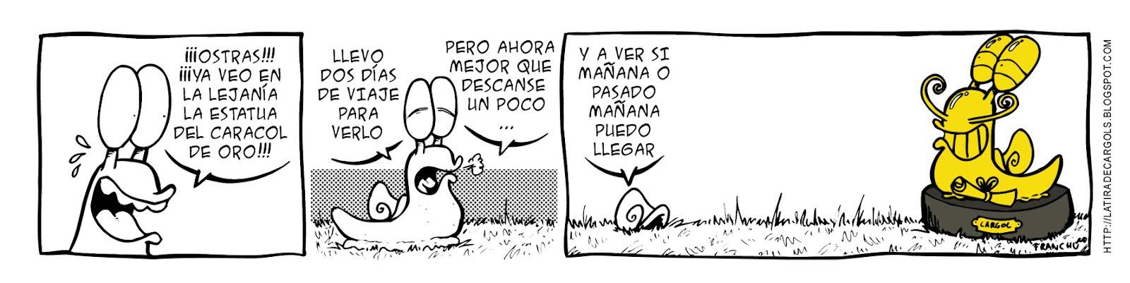 Tira comica 128 del webcomic Cargols del dibujante Franchu de Barcelona