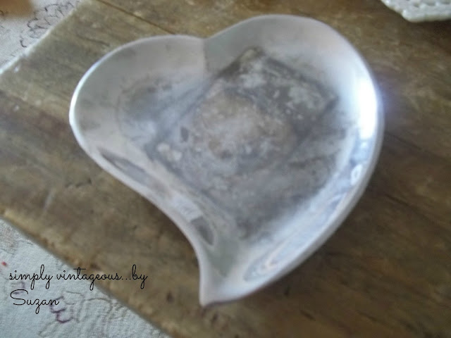heart, shaped, candy, dish, silver
