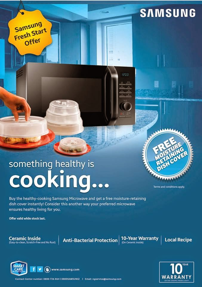 Samsung Nigeria Giveaway. Get a moisture retaining dish cover for free.