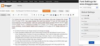 Tips Mengubah Font Website atau Blogspot