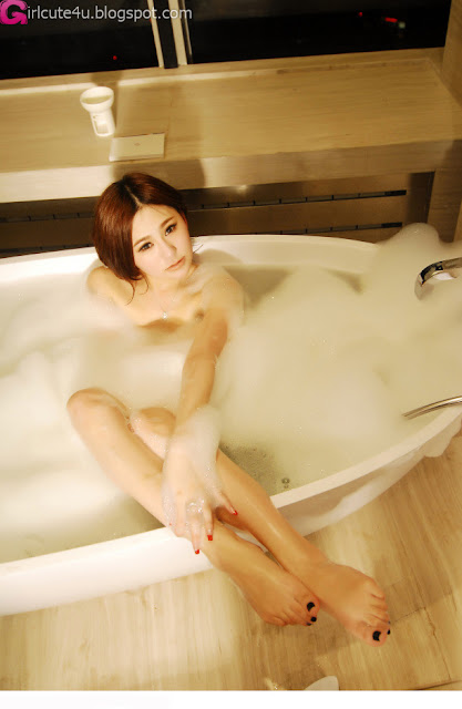 3 Tender the mold Wu Muxi - white bubble bath-very cute asian girl-girlcute4u.blogspot.com