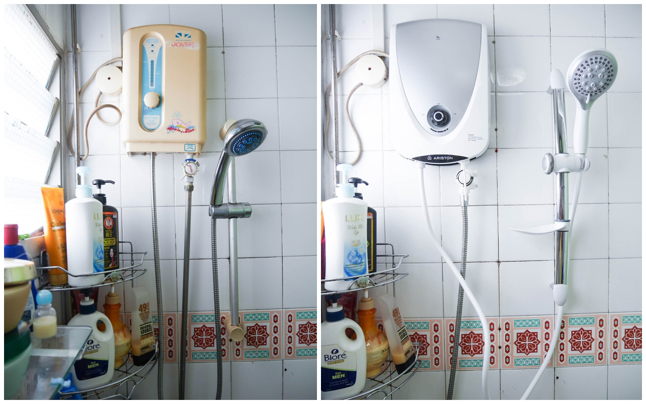 Ariston instant water heater now in singapore celine for How to heat a bathroom