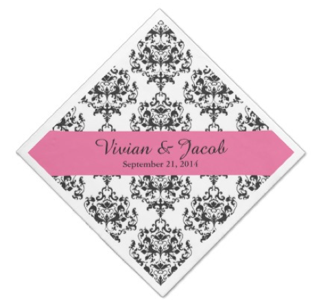 http://www.zazzle.com/chic_black_and_white_damask_wedding_napkin_taylorcorpnapkin-256509997833133697?rf=238845468403532898
