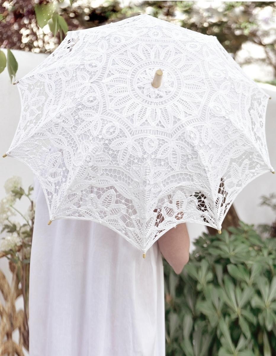 Vackra spetsparaplyer