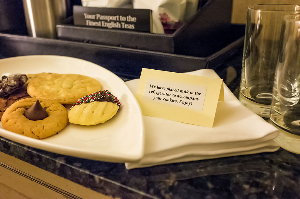 Cookies and Milk at the Hershey Hotel