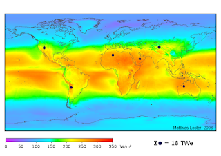 Solar Radiation Map - Solar Energy Potential Across the World
