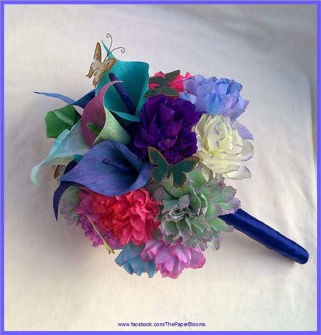 Crafty little beanut i love colour paper flower wedding bouquet please head over to my facebook page and check out more of my work if you like my flowers please like my facebook page thank you mightylinksfo