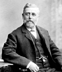 Black and white portrait of Thomas Crapper