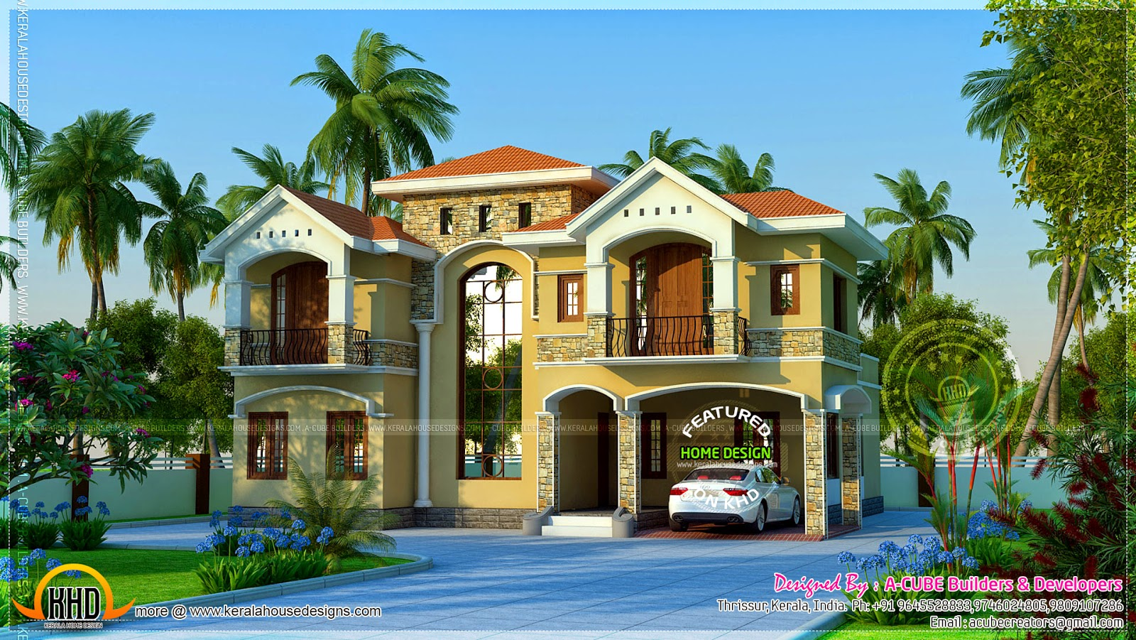 May 2014 kerala home design and floor plans for Luxurious home plans