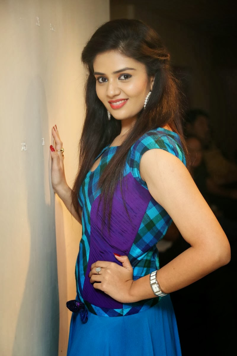 Actress Srimukhi Latest Cute Hot Exclusive Blue Dress Spicy Photos ...