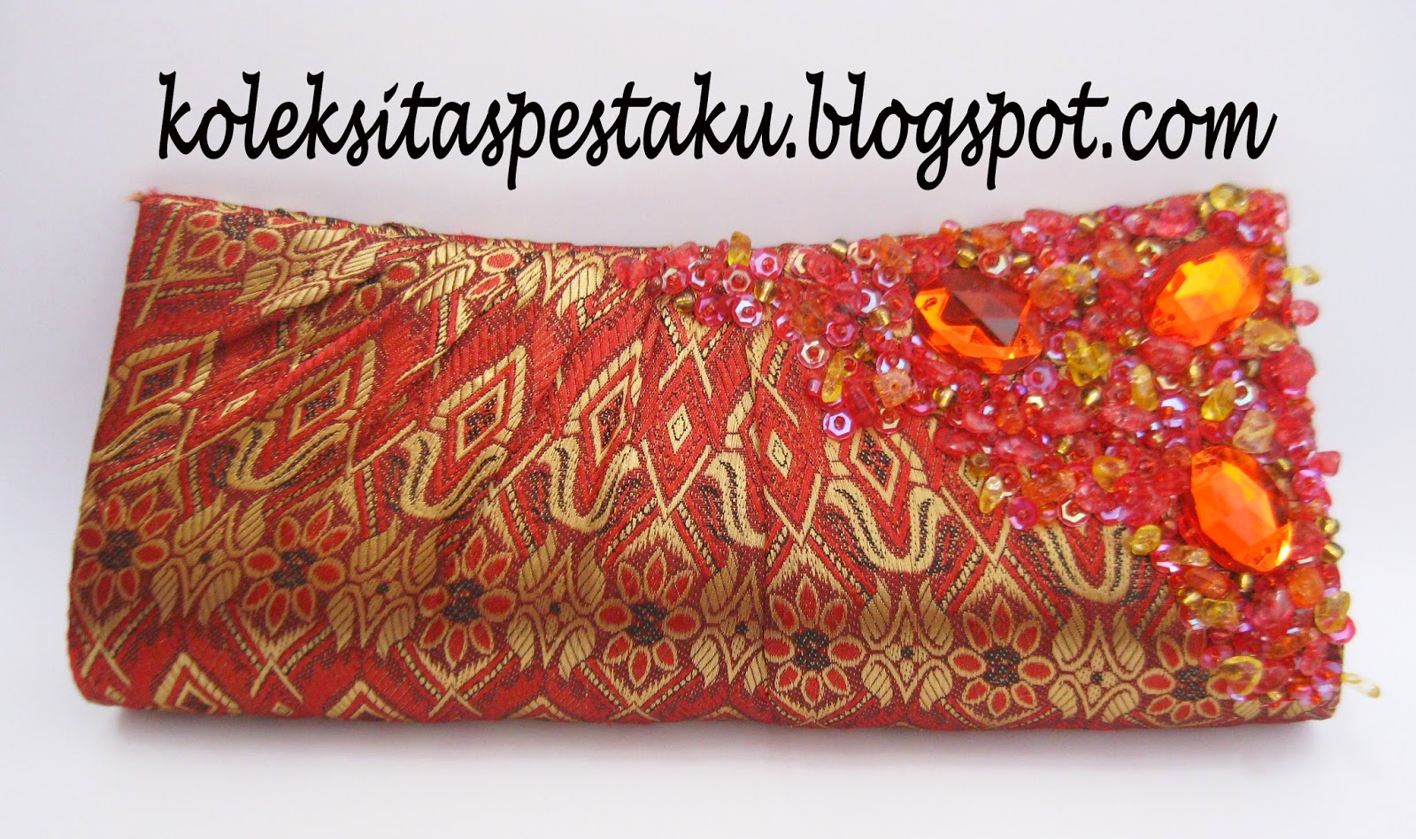 Tas Pesta Merah Mewah Elegant Ready Stock