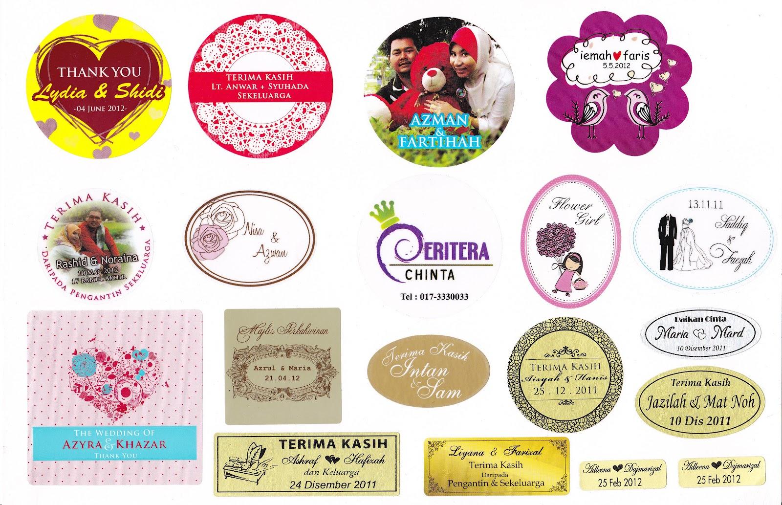 promosi kad kahwin sticker
