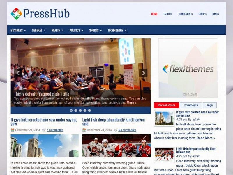 PressHub - Free Wordpress Theme