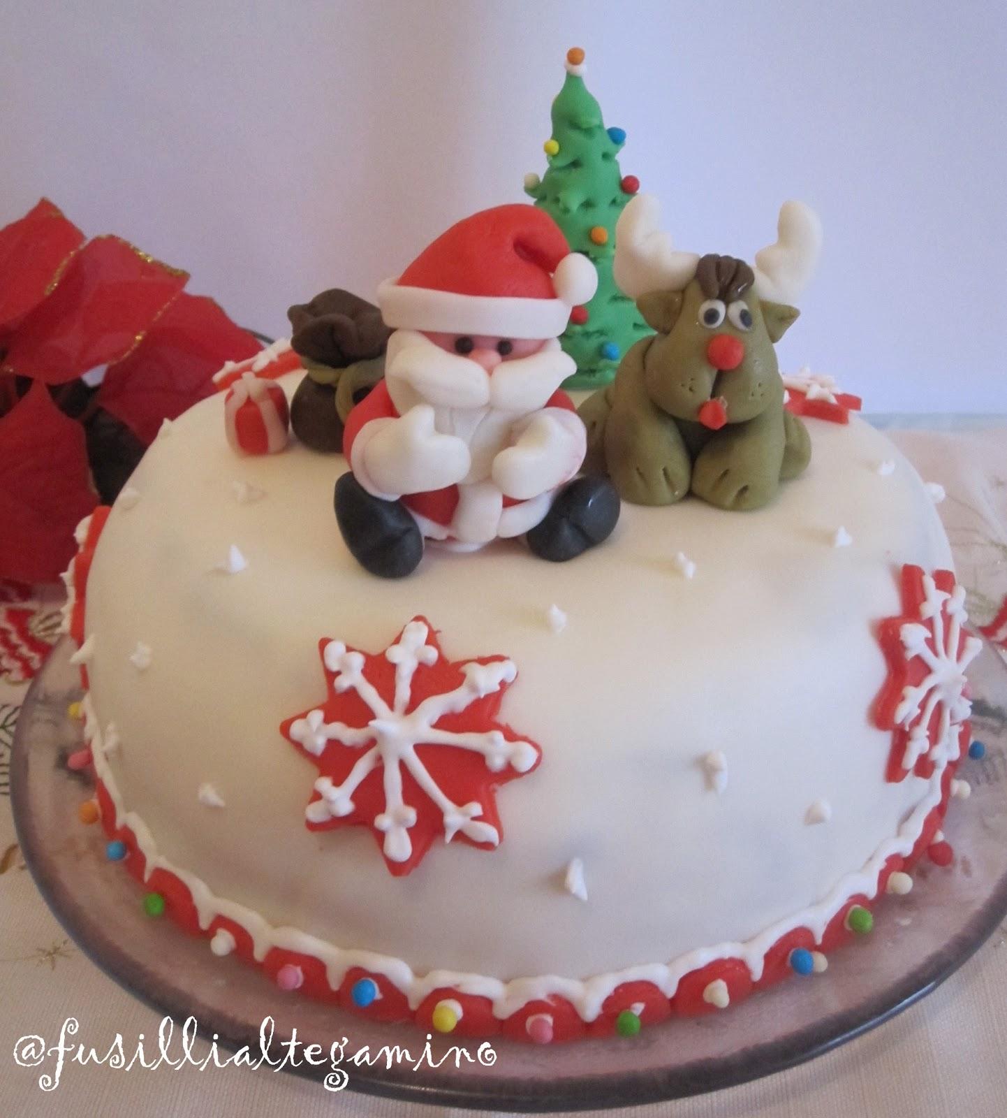Fusillialtegamino torta babbo natale e renna in pdz - Decorazioni torte natale ...