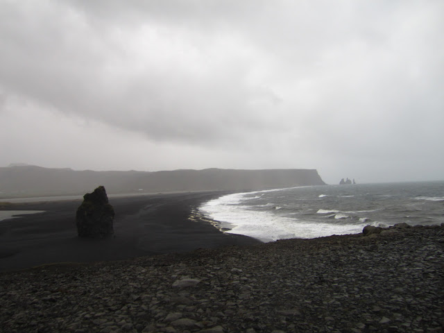 Scenery on The Golden Circle in Iceland near the coast of Vik.