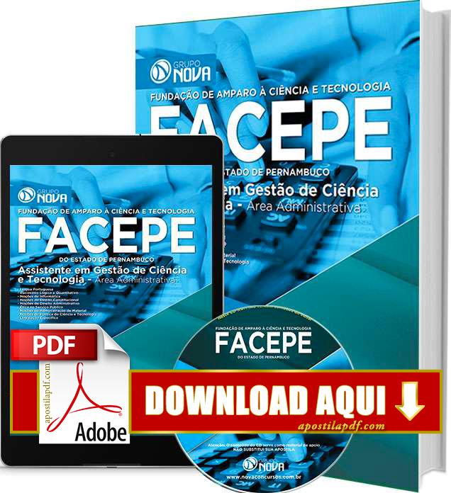 Apostila FACEPE PE 2015 PDF Grátis Download