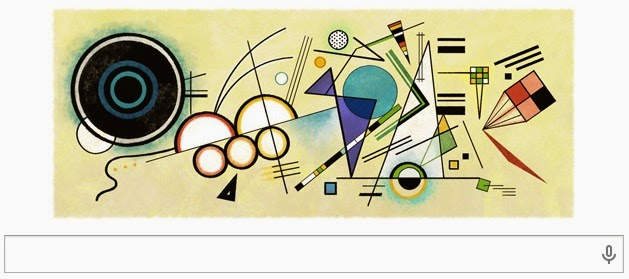 Hari ini Google Doodle Rayakan Ulang Tahun148 Tahun Wassily Kandinsky