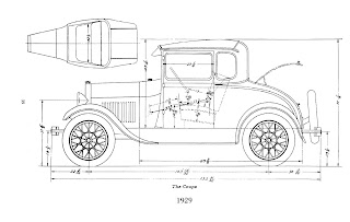 1931 Ford Model A Coupe Body Diagram