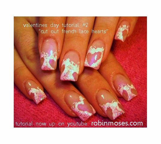 The Charming Pink wedding nail art design Pics