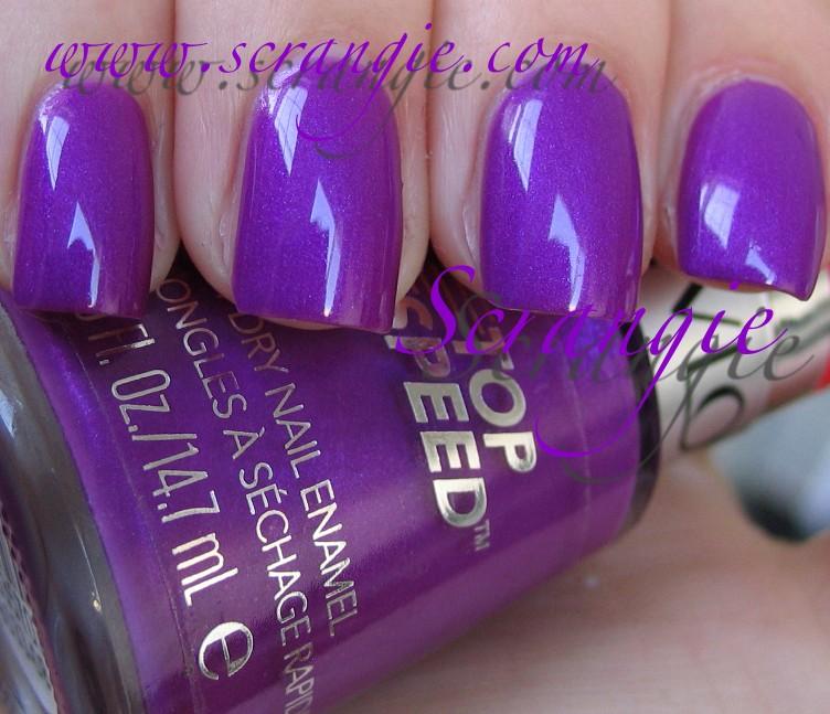 Scrangie: Revlon Top Speed Violet and Royal