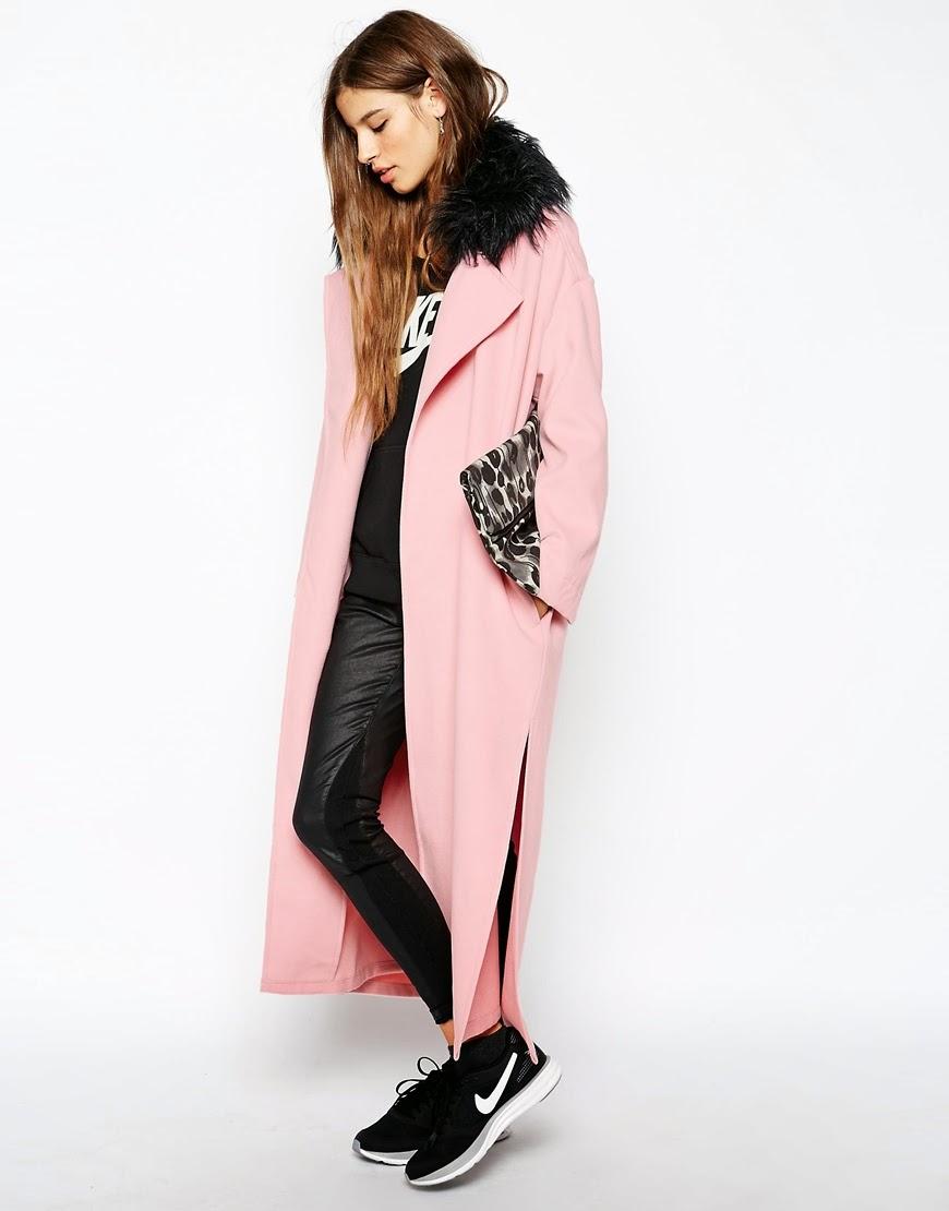 pink maxi coat, story of lola pink coat,