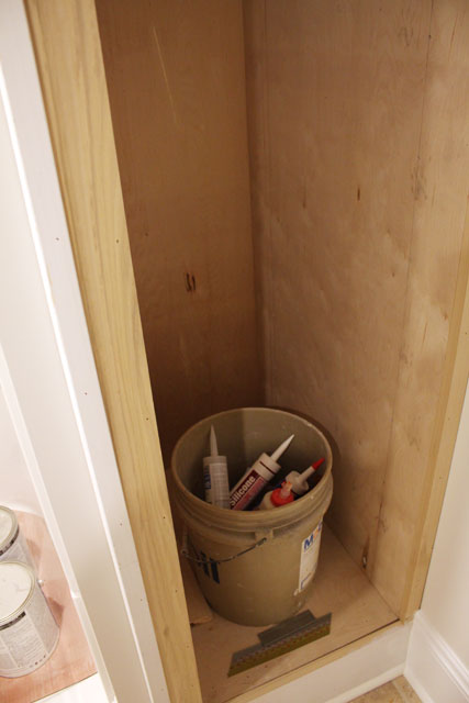 Basement bathroom installation of ikea vanity danks for 0 bathroom installation