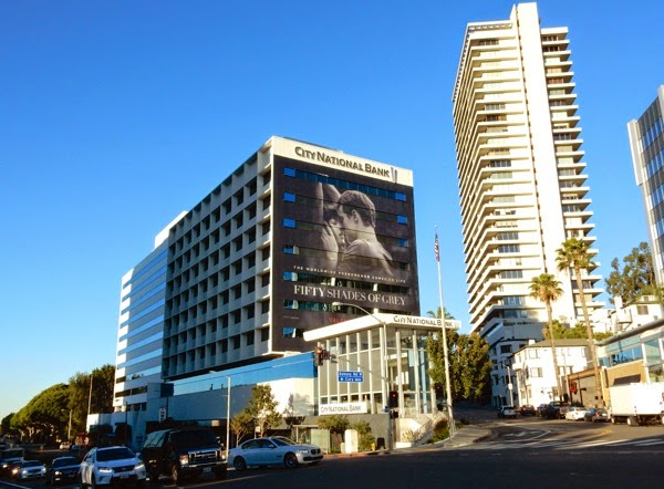 Fifty Shades of Grey movie billboard Sunset Strip