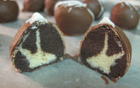Chocolate and Vanilla Cake Ball - Chocolate with Vanilla 'Bunny Head' Center :)
