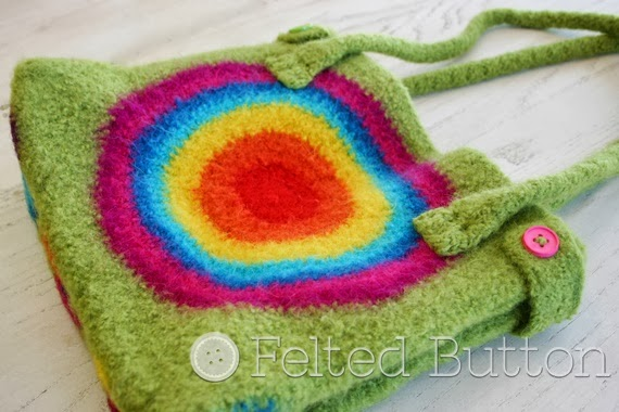 Colorful Crochet Patterns by Felted Button (It's Stashing Tote)