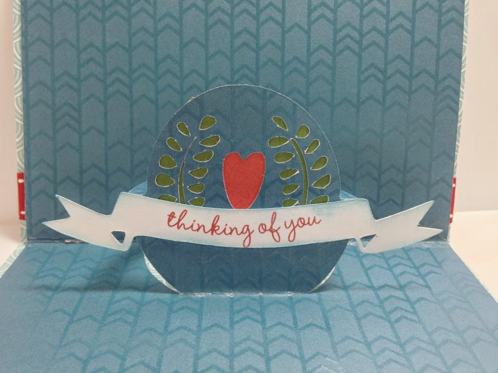 Close To My Heart Artfully Sent Cricut cartridge Pop Up Bird card inside