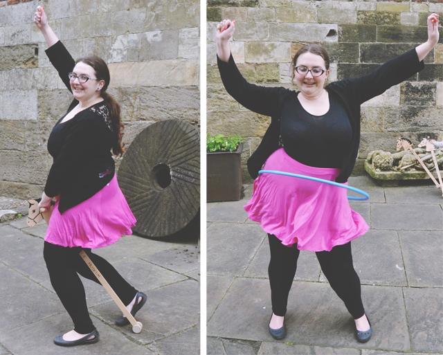 Fat girl hula hooping