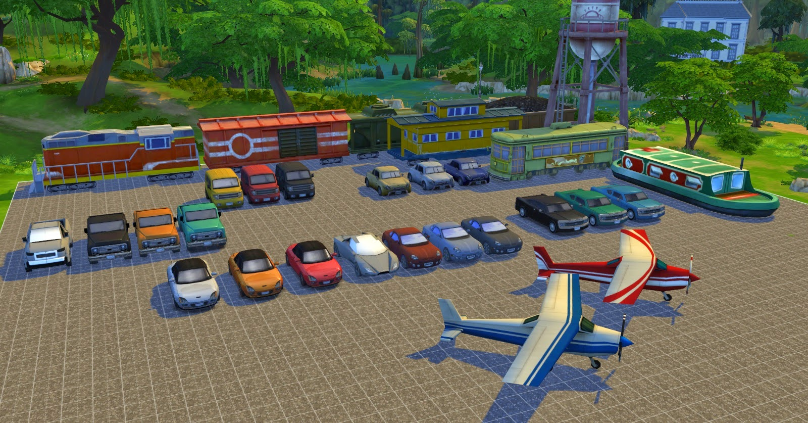 My sims 4 blog decorative vehicles cheat cars trains for Mods sims 4 muebles