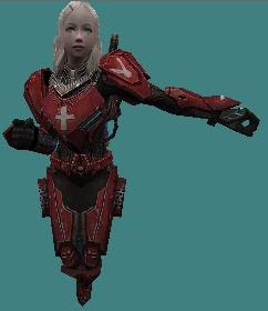 Download Metal Arena Alice Red Character Skin for Counter Strike 1.6 and Condition Zero