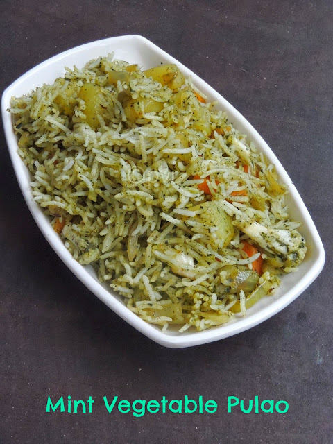 Vegan Mint Vegetable Pulao