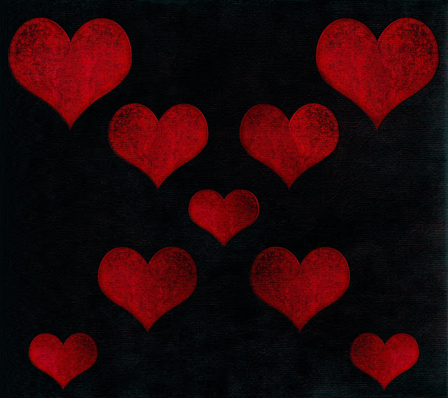 black red hearts background blogger