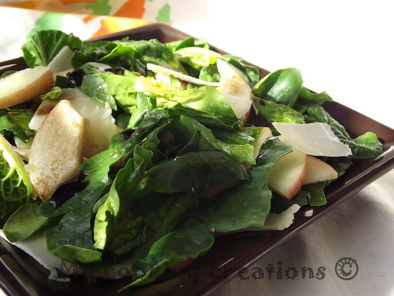E profumo di primavera o insalata di spinaci e mela * И замириса на пролет или салата със спанак и ябълка
