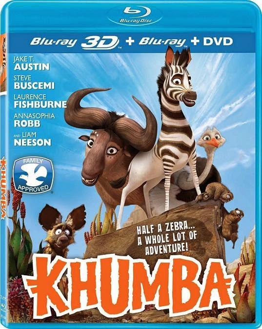 Khumba 3D (Khumba, La Cebra sin Rayas 3D)(2013) 1080p BRRip 3D SBS 1.7GB mkv Dual Audio AC3 5.1 ch