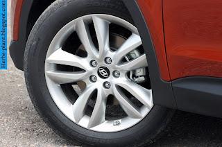 Hyundai santa fe car 2013 tyres/wheel - صور اطارات سيارة هيونداى سنتافي 2013