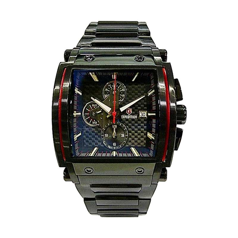 Shelly Shop Jam Tangan Expedition Chronograph 6337 Black Red