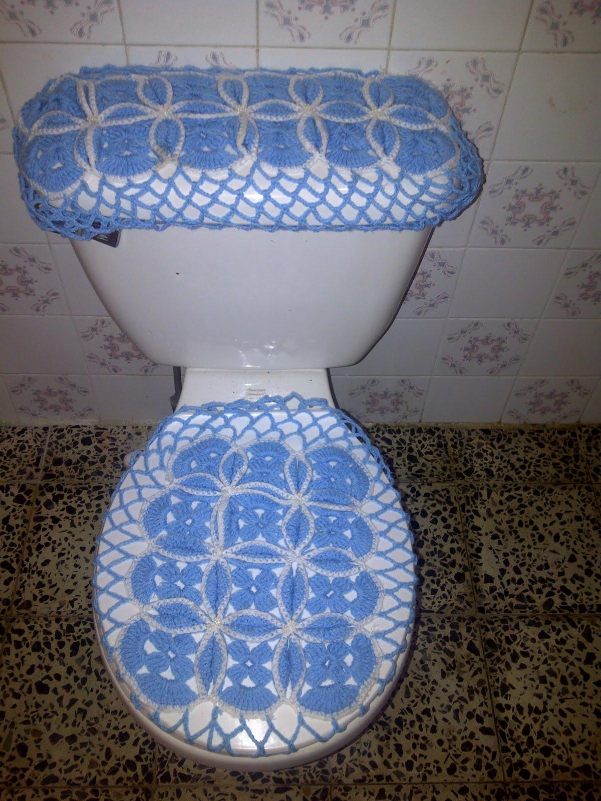 Juegos De Baño A Crochet:mi mundo apasionado del crochet: juego de bano azul, en red floral