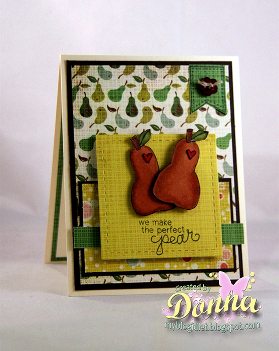 Perfect Pear card by Donna Idlet using Sweet Summer Stamp Set | Newton's Nook Designs
