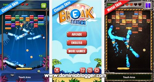 Rompe todos los ladrillos del juego Break Bricks