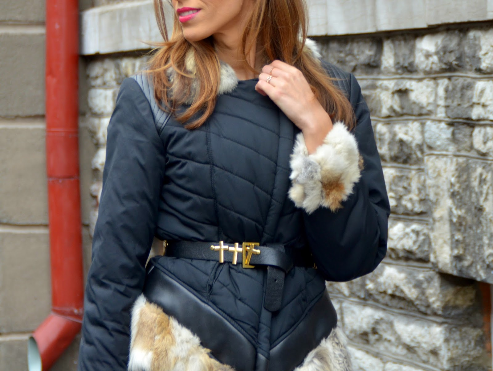 rino-pelle-jacket-rabbit-fur-sleeves-collar-hm-waist-belt
