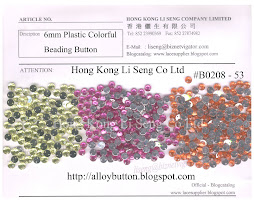 Plastic Colorful Beading Button Supplier - Hong Kong Li Seng Co Ltd