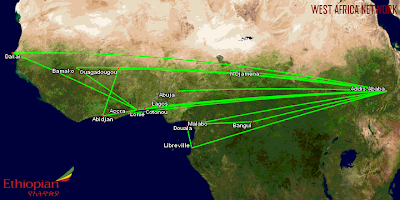 Ethiopian Airlines' West Africa Network