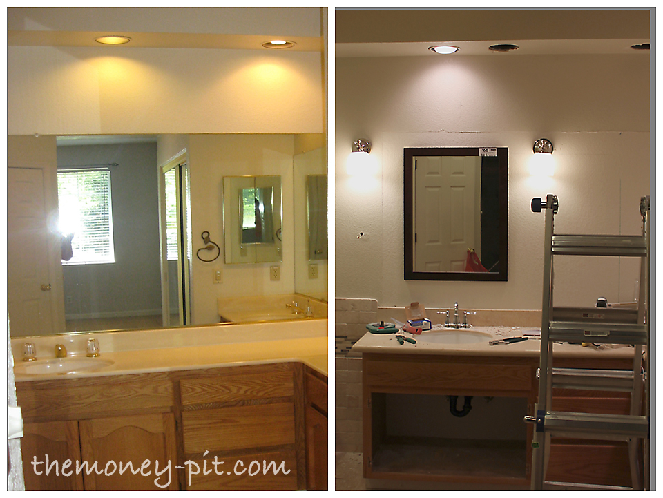 Cute Master Bathroom Remodel Lighting and Electrical Complete