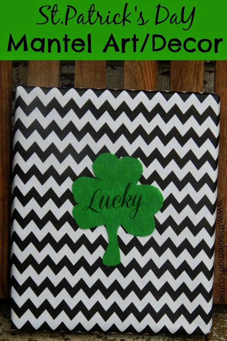 St.Patrick's Day Decor, DIY Shoe Box Top Print , DIY Decor, DIY Art , DIY Mantel Decor, St.Patrick's Day Craft , Shoe Box Lid Canvas