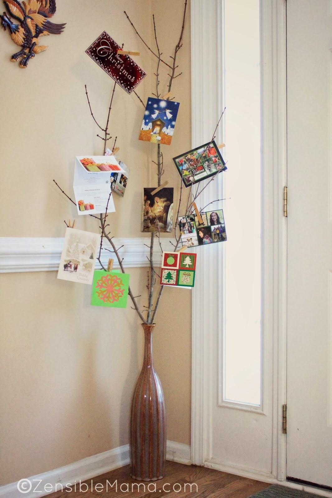 zensible mama christmas card holder home decor idea 2