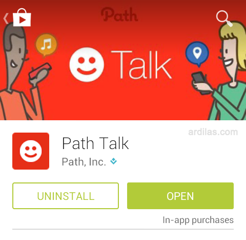 Cara Menghapus Aplikasi Path Talk - Uninstall