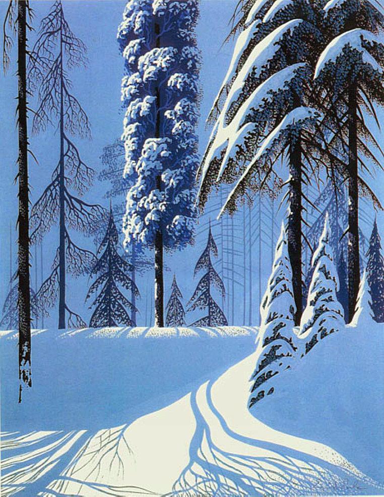 Eyvind Earle Art Gallery Eyvind Earle Snowscape Views